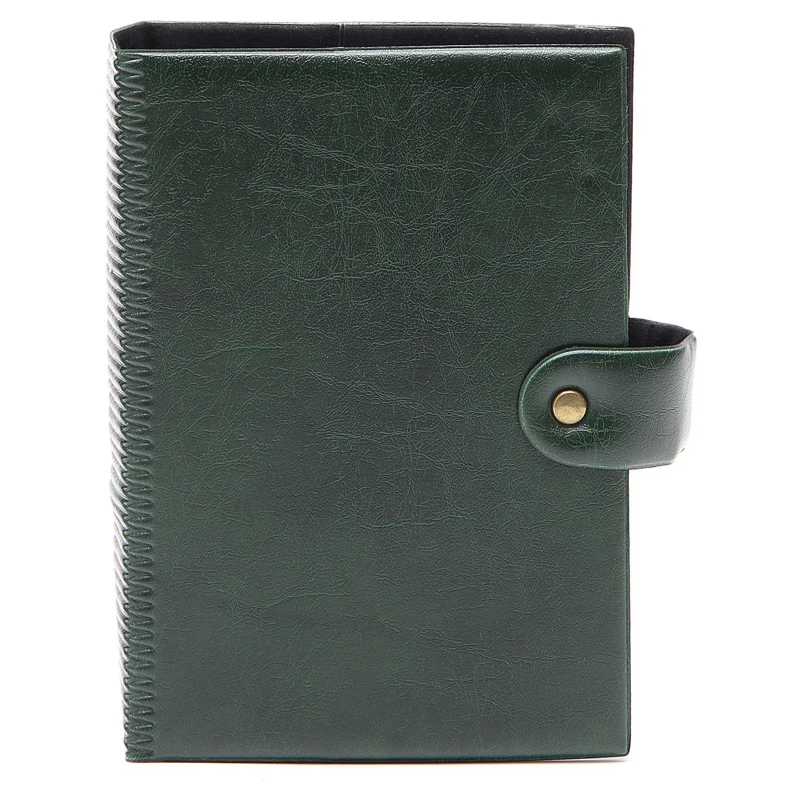 STOCK Custodia Bibbia Gerusalemme similpelle verde 4
