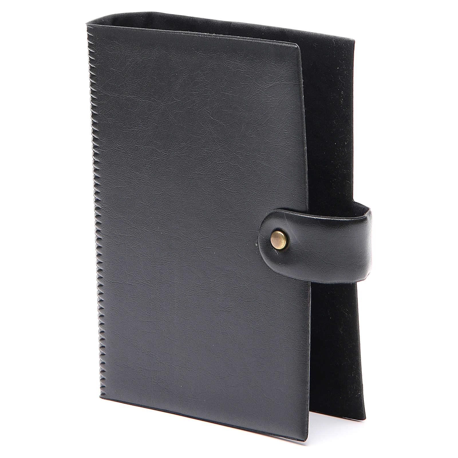 STOCK Couverture Bible Jérusalem noir imitation cuir bouton 4