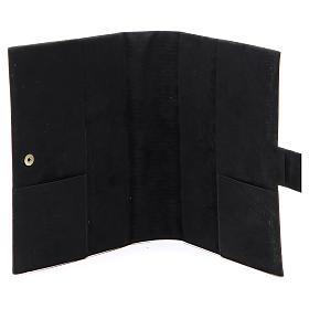 STOCK Couverture Bible Jérusalem noir imitation cuir bouton s4
