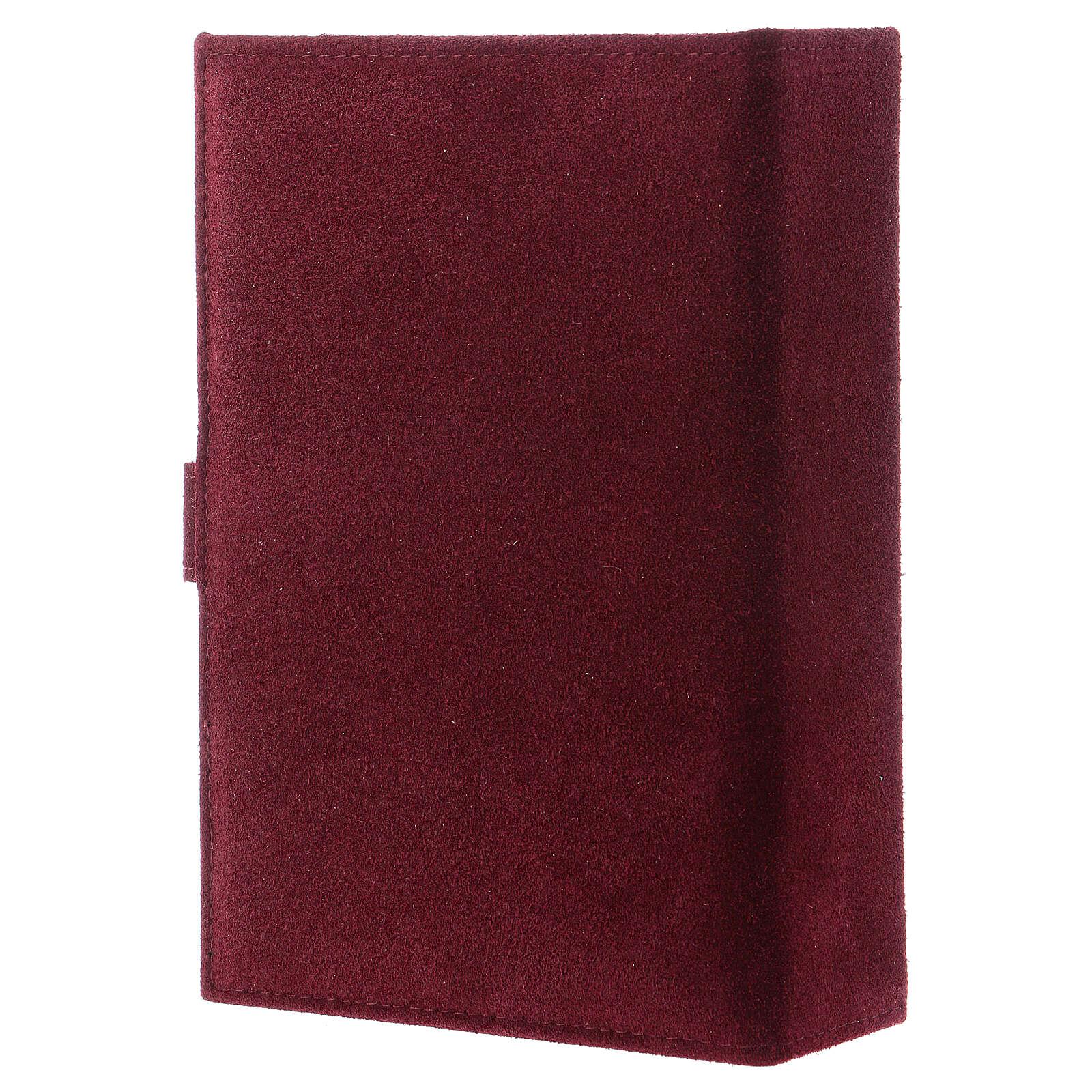 Custodia Bibbia Gerusalemme pelle scamosciata bordeaux 4