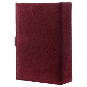 Custodia Bibbia Gerusalemme pelle scamosciata bordeaux s3