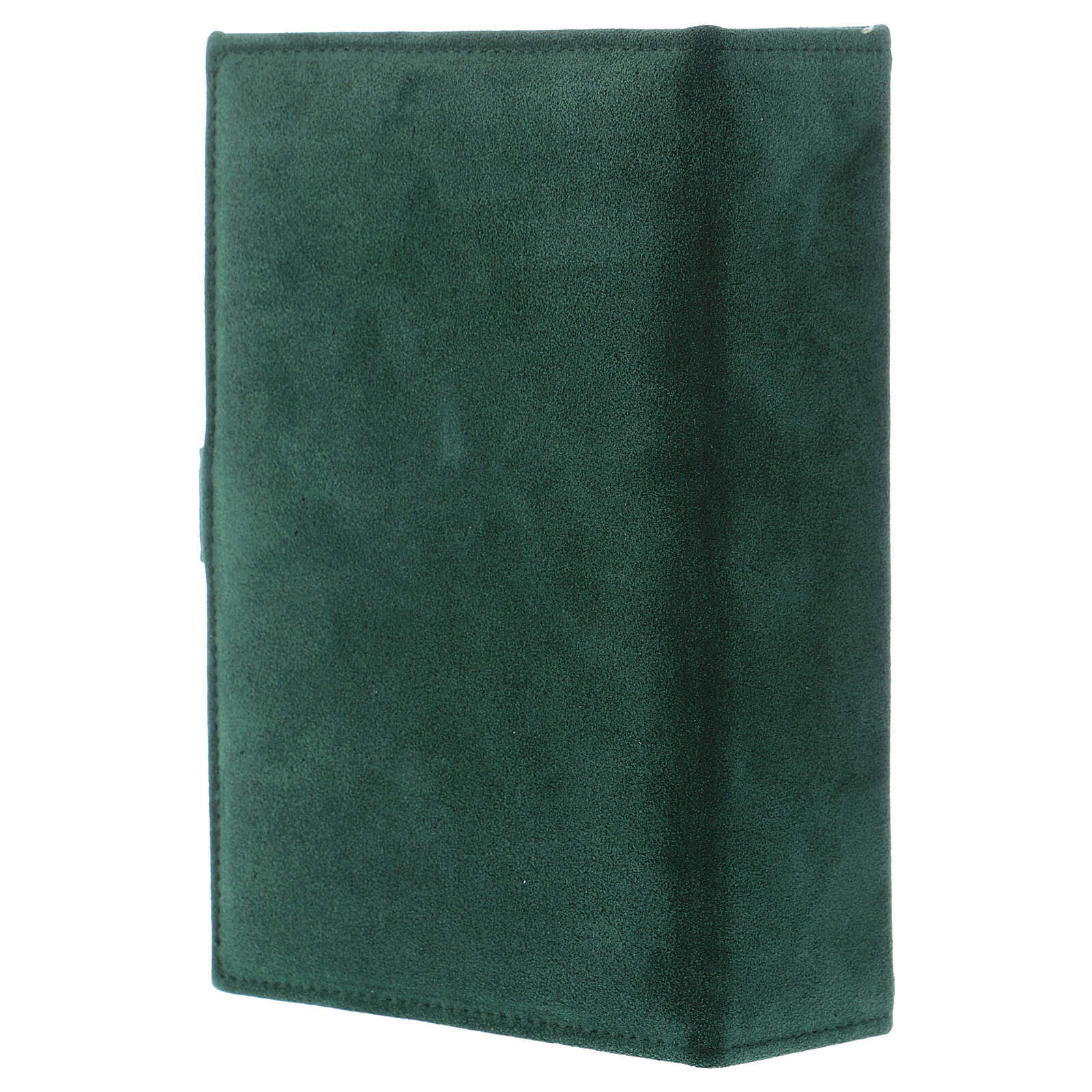 Custodia Bibbia Gerusalemme pelle scamosciata verde 4