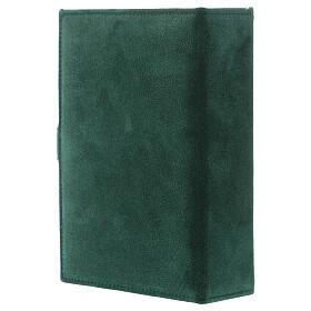 Custodia Bibbia Gerusalemme pelle scamosciata verde s3
