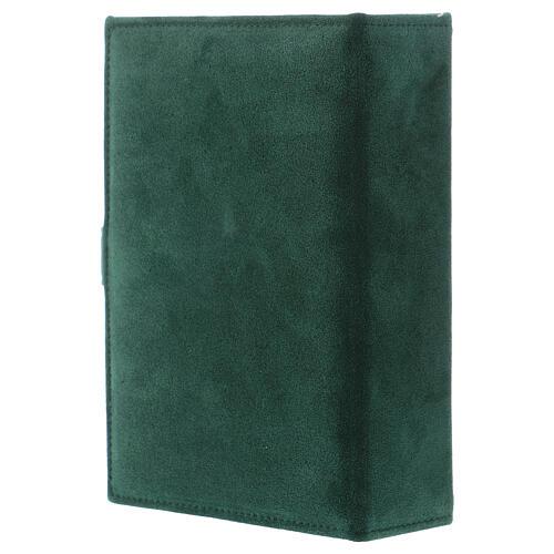 Custodia Bibbia Gerusalemme pelle scamosciata verde 3