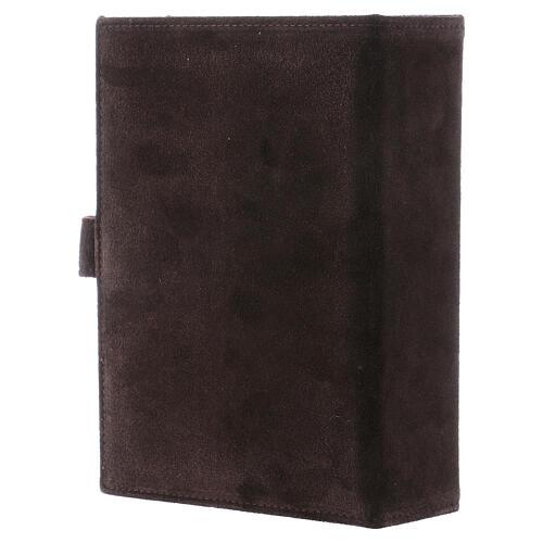 Custodia Bibbia Gerusalemme pelle scamosciata marrone 3