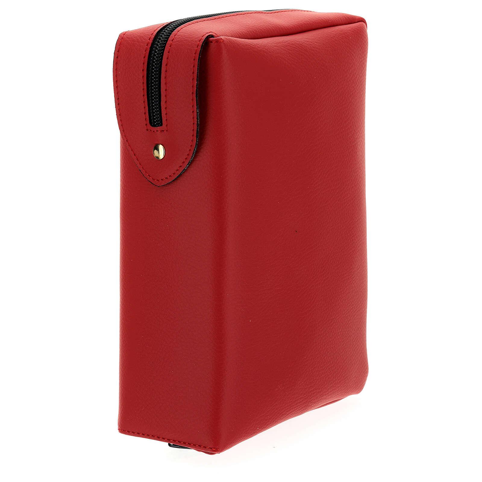 Custodia similpelle rossa Nuova Bibbia San Paolo 2020 4