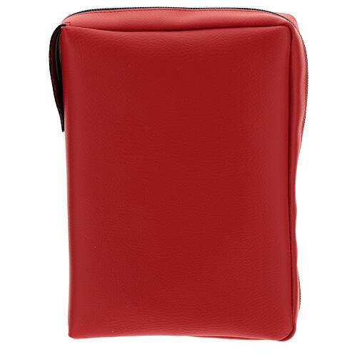 Custodia similpelle rossa Nuova Bibbia San Paolo 2020 1