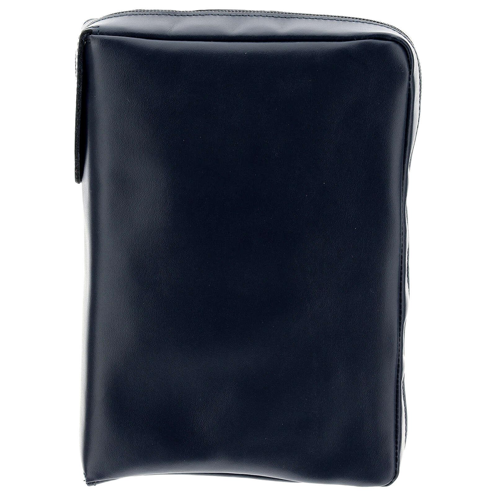 Custodia vera pelle blu Nuova Bibbia San Paolo 2020 4