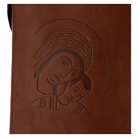 Custodia Nuova Bibbia San Paolo 2020 pelle marrone Kiko s2