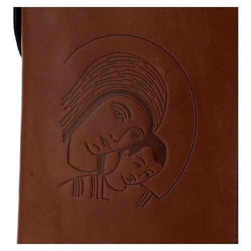 Custodia Nuova Bibbia San Paolo 2020 pelle marrone Kiko 2