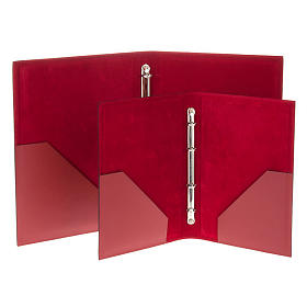 Folder for Sacred Rites in Red Leather s5