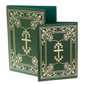 Folder for sacred rites in green leather s1