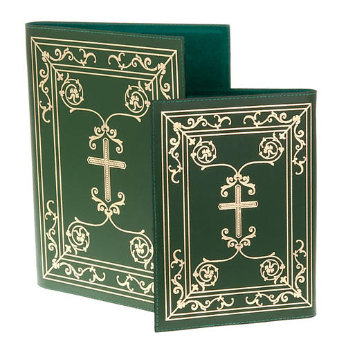 Folder for sacred rites in green leather 1