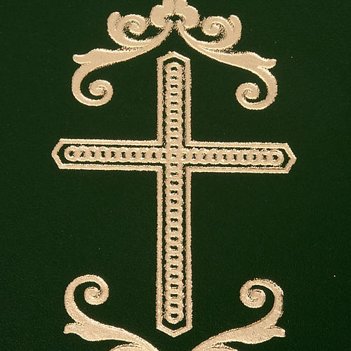 Folder for sacred rites in green leather 2