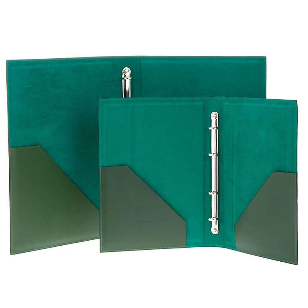 Carpeta portaritos de piel verde 4