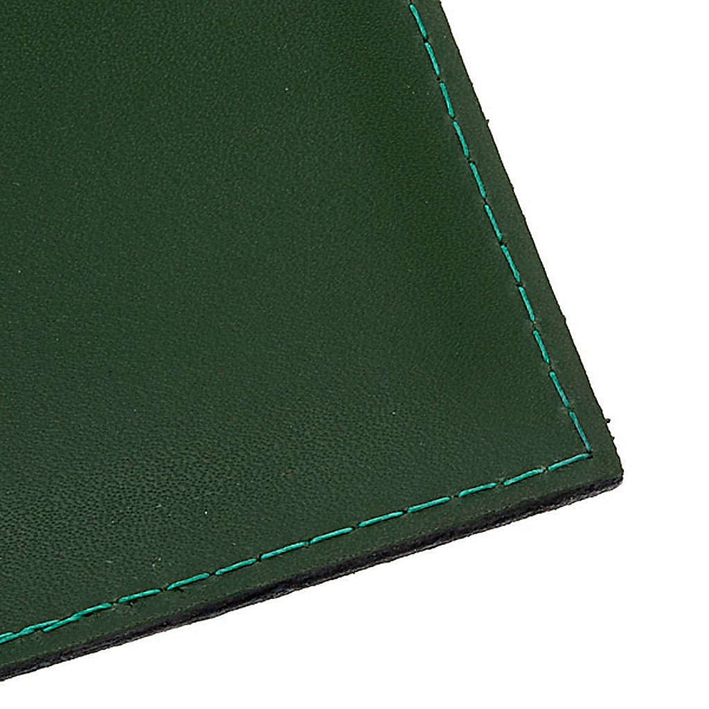 Cartella porta riti in pelle verde 4