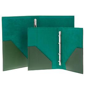 Cartella porta riti in pelle verde s5