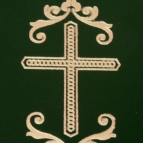 Cartella porta riti in pelle verde 2