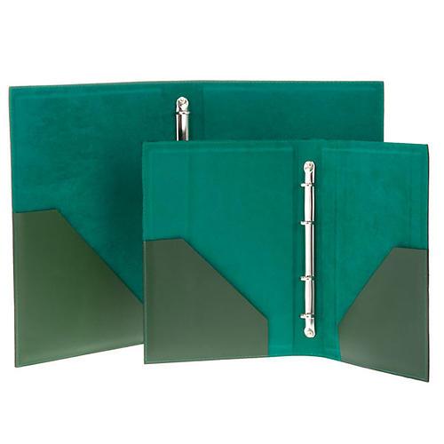 Cartella porta riti in pelle verde 5