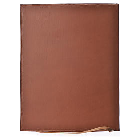 Folder for Sacred Rites in Brown Leather with Hot pressed Cross Bethleem, A4 size s2