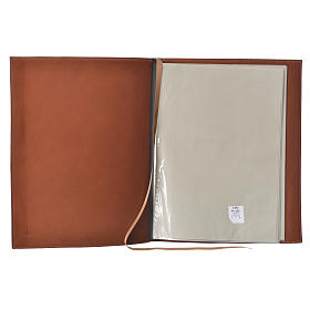 Folder for Sacred Rites in Brown Leather with Hot pressed Cross Bethleem, A4 size s3