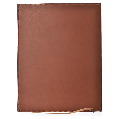 Folder for Sacred Rites in Brown Leather with Hot pressed Cross Bethleem, A4 size 2