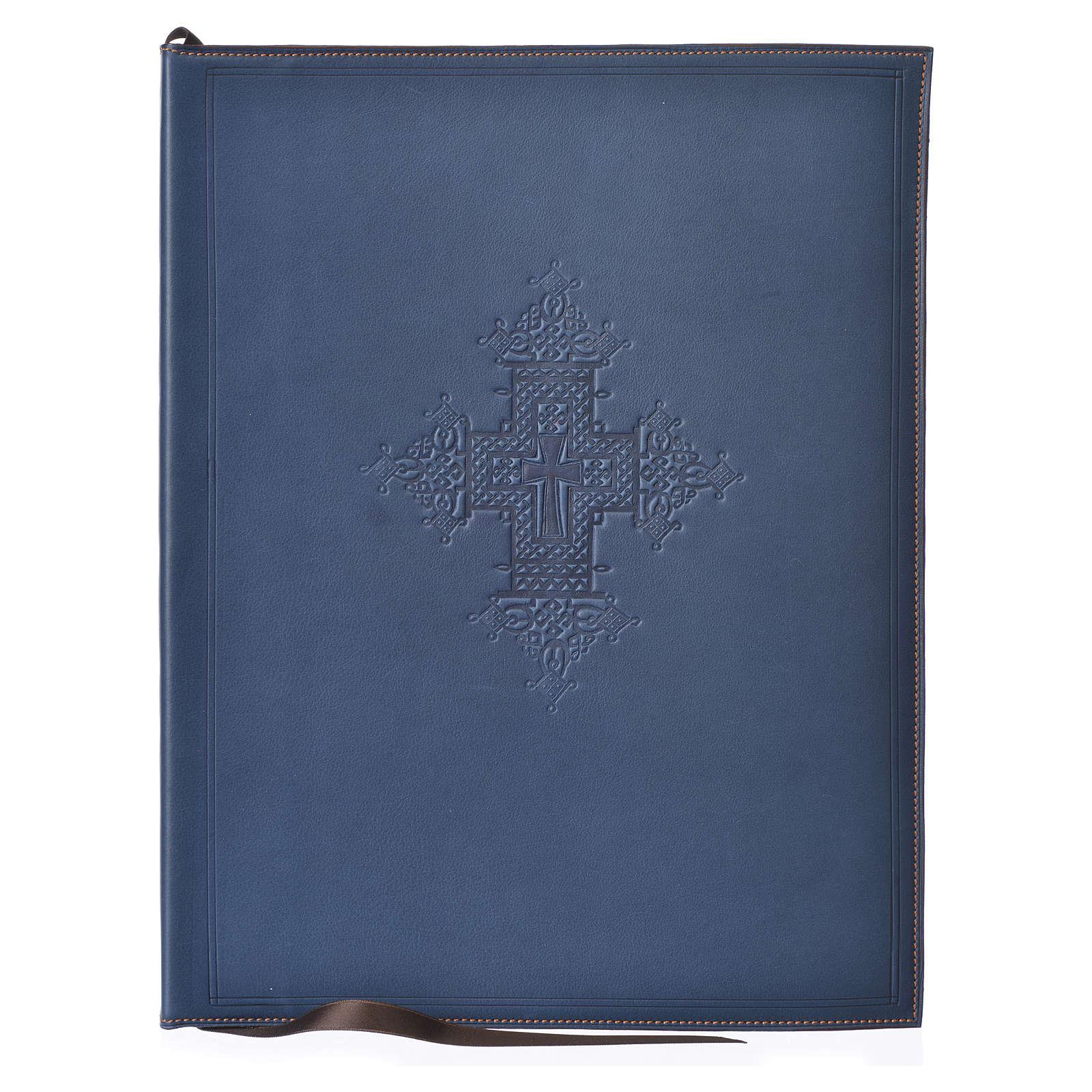 Couverture rites A4 croix imprimée bleu Bethléem 4