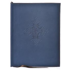 Couverture rites A4 croix imprimée bleu Bethléem s1