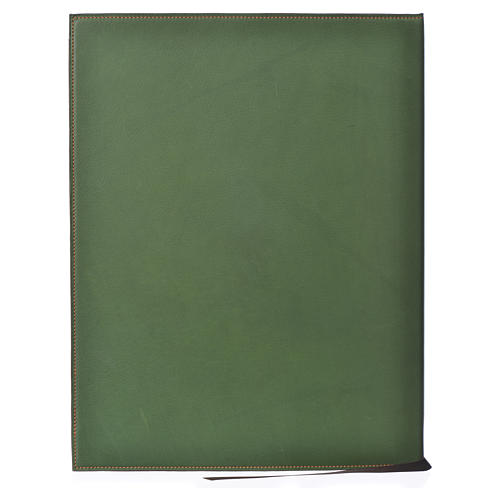 Leather Green Folder for sacred rites with Hot Pressed Cross Bethlehem, A4 size 2