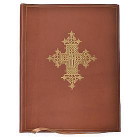 Custodia portariti A4 croce oro marrone Bethléem s1