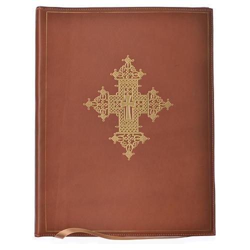 Custodia portariti A4 croce oro marrone Bethléem 1