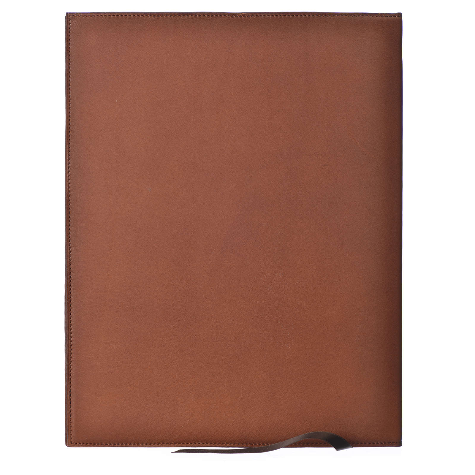 Folder for sacred rites in brown leather, hot pressed lamb Bethleem, A4 size 4