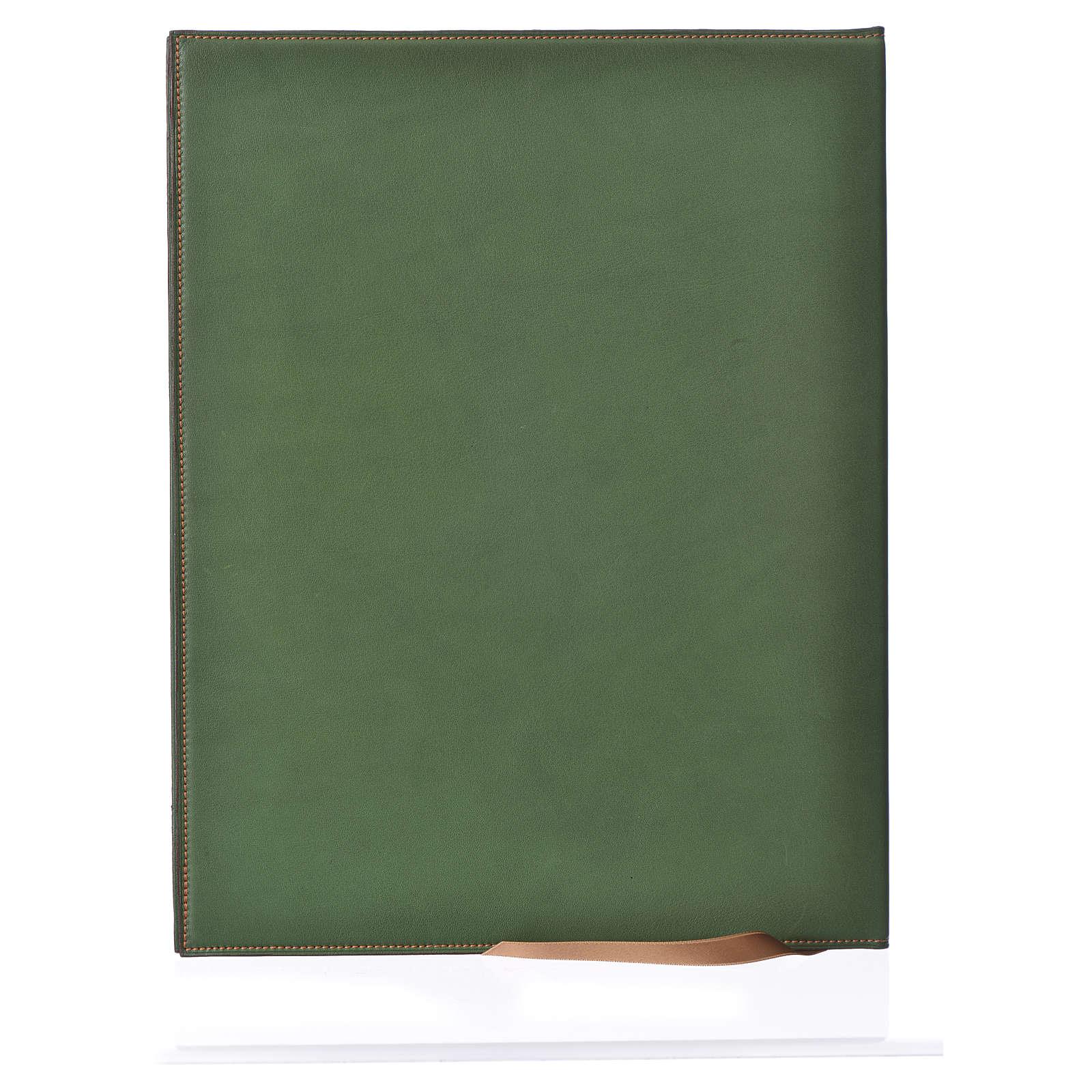 Funda para ritos A4 Cordero impreso verde Belén 4