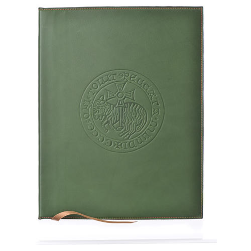 Funda para ritos A4 Cordero impreso verde Belén 1