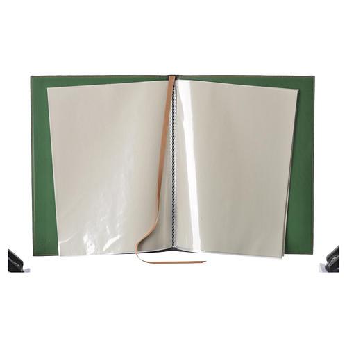 Funda para ritos A4 Cordero impreso verde Belén 3