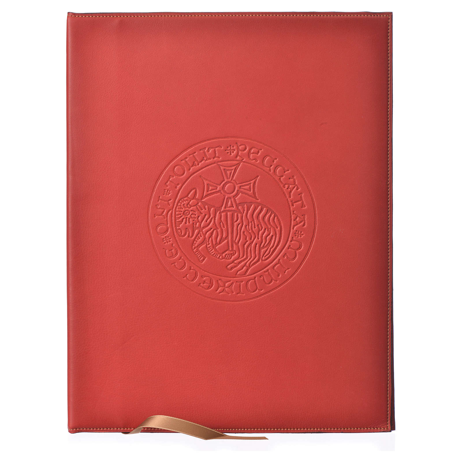 Custodia portariti A4 Agnello impresso rossa Bethléem 4