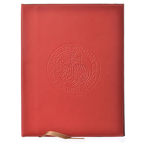 Custodia portariti A4 Agnello impresso rossa Bethléem 1