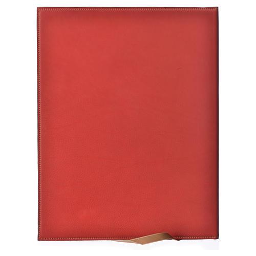 Custodia portariti A4 Agnello impresso rossa Bethléem 2