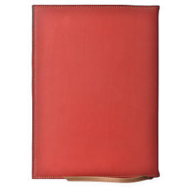A5 size Red Leather Folder with Hot Pressed Golden Lamb Bethelehem s2