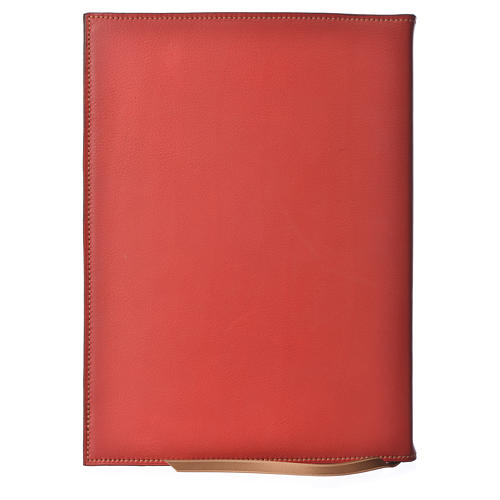 A5 size Red Leather Folder with Hot Pressed Golden Lamb Bethelehem 2