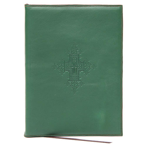 Custodia portariti A5 croce impressa verde Bethléem 1