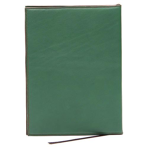 Custodia portariti A5 croce impressa verde Bethléem 2