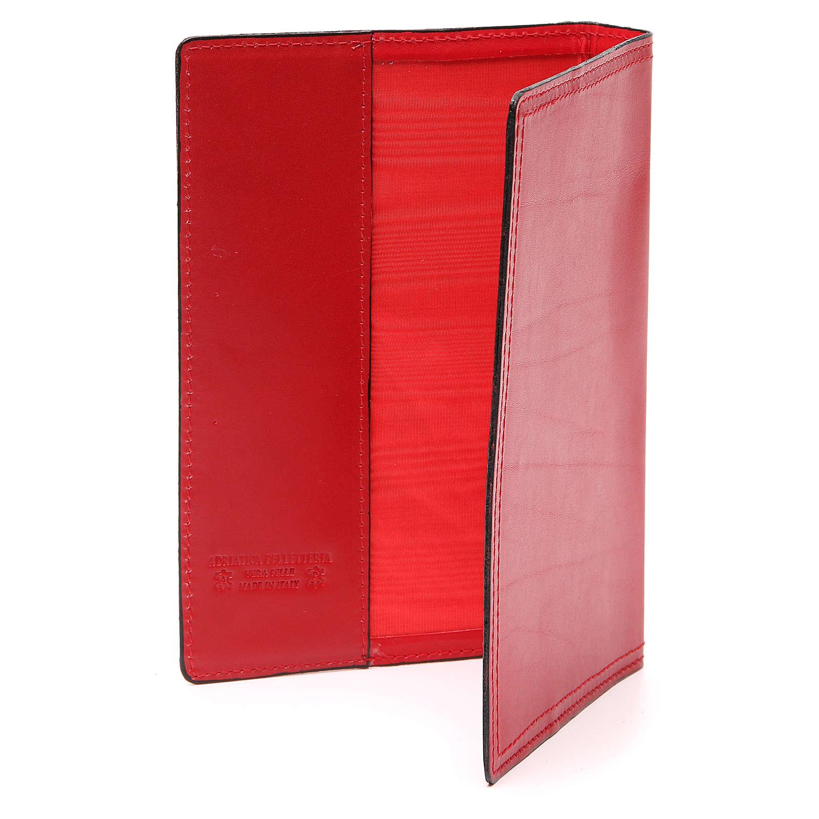 Cartella portariti A5 vera pelle rossa 4