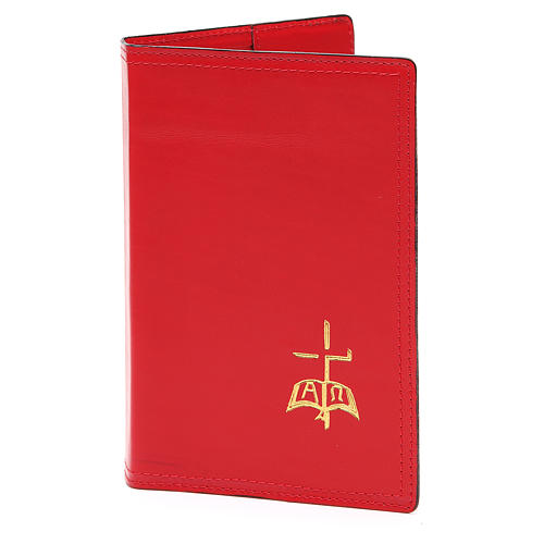 Red Leather Slip Cover Case for Sacred Rites A5 size 1