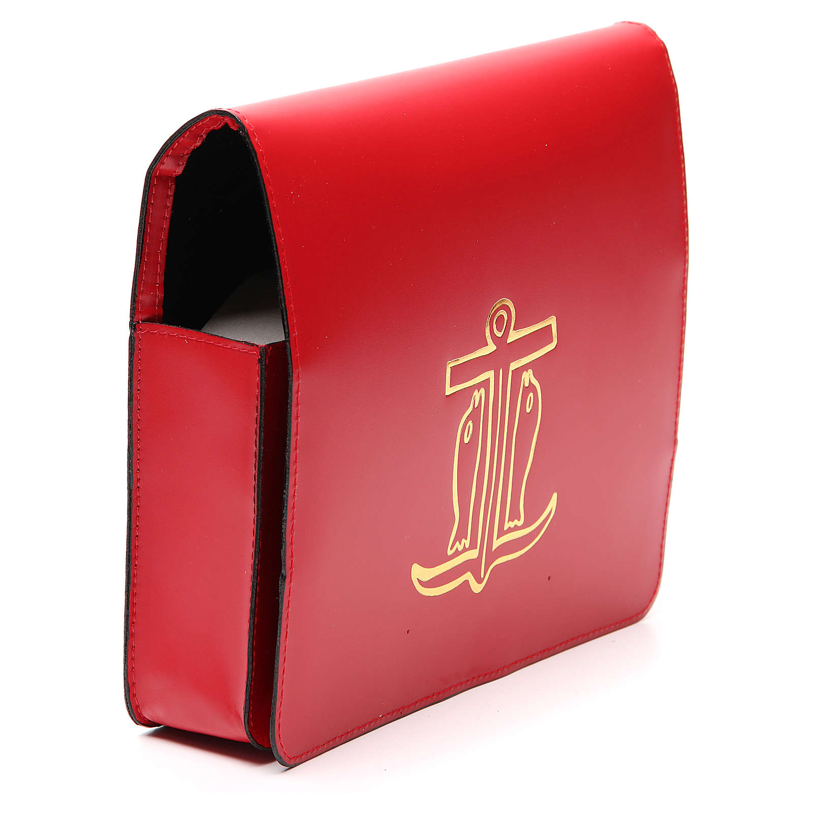 Red Bag for Song Sheets in Leather, 4