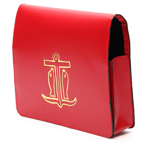Red Bag for Song Sheets in Leather, 2