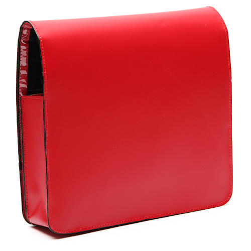 Red Bag for Song Sheets in Leather, 3