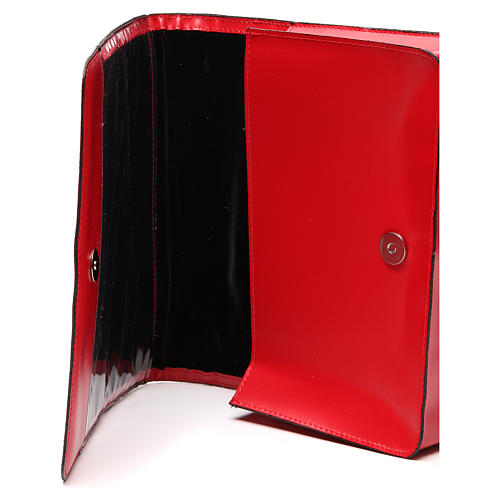 Red Bag for Song Sheets in Leather, 5