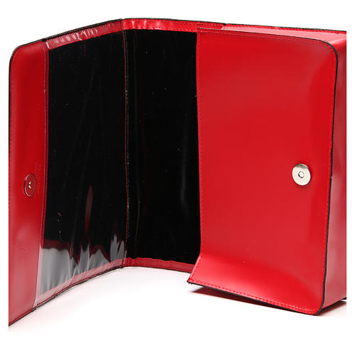 Red Bag for Song Sheets in Leather, 6