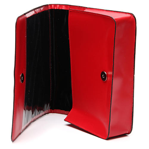 Red Bag for Song Sheets in Leather, 8
